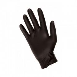 Čierne nitrilové rukavice -...