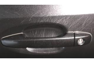 Škrabance pod kľučkou - leštenie